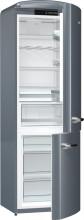 Gorenje ORK192X  Kombinovaná chladnička s mrazničkou dole, Retro, 227/95l, A++, nerez