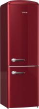 Gorenje ONRK193R  Kombinovaná chladnička s mrazničkou dole, Retro, NF 227/95l,  D, bordová