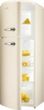 Gorenje RF 60309 OCL  Kombinovaná chladnička s mrazničkou nahoře, Retro, 229/65l, A++, slonová kost,,L