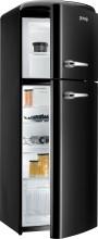 Gorenje RF 60309 OBKL  Kombinovaná chladnička s mrazničkou nahoře, Retro, 229/65l, A++, černá, L