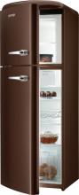 Gorenje RF 60309 OCHL  Kombinovaná chladnička s mrazničkou nahoře, Retro, 229/65l, A++, tmavá čokolád,L