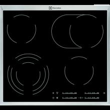 Electrolux EHF46547XK Varná deska sklokeramická Radiant Hob 60 cm, Varné zóny 4, Černá