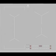 Electrolux EIV63440BS Varná deska indukční Bridge 60 cm, Varné zóny 4