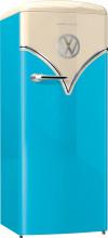 Gorenje OBRB153BL  Kombinovaná chladnička s mrazničkou dole, Retro Bulli, NF 229/25l, A+++, modrá Rozbalený kus
