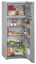 LIEBHERR CTPsl 2541  Kombinovaná chladnička s mrazničkou nahoře, 187/44l, A++, Stříbrná