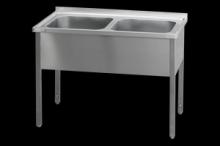 REDFOX MSD-140x60x90 (60x50x32)Stůl mycí dvoudř.