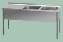 REDFOX MSDOL-140x70x90/2x50x40  Stůl odk.pl.levá