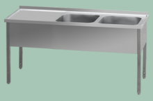 REDFOX MSDOL-160x70x90/2x50x40  Stůl odk.pl.levá