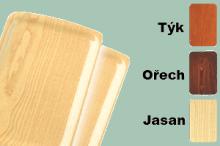 REDFOX Podnos lamino s úchopy 34,5x24  barva dřeva protiskluz