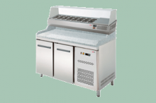 REDFOX RTP-2D Pizzastůl s vitrínkou na GN-1/4