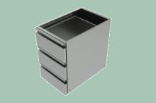 REDFOX ZB-Zásuvkový blok  (3x zásuvka) do prac. stolů PS