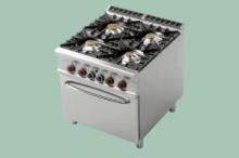 RM Gastro CF4-98G  Sporák plynový s troubou 2/1
