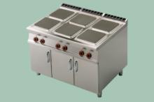 RM Gastro PCQ-912ET  Sporák 6xpl.hrana,skříňka,400V