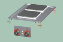RM GASTRO PCQD-64ET Sporák stolní elektrický