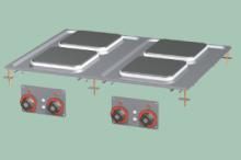 RM GASTRO PCQD-68ET Sporák stolní elektrický