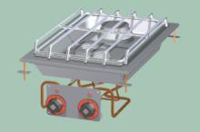 RM GASTRO PCD-64G  Sporák stolní plynový