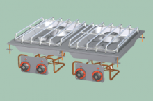 RM GASTRO PCD-68G  Sporák stolní plynový