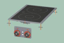 RM GASTRO PCCD-64ET  Sporák stolní-sklokeramický