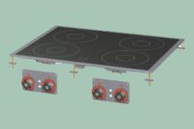 RM GASTRO PCCD-68ET Sporák stolní-sklokeramický