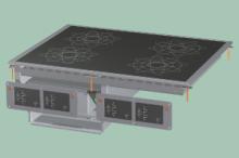 RM GASTRO PCID-68ETD  Sporák stolní indukční s digitálním ovládáním