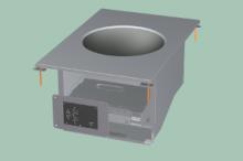 RM GASTRO PCIWD-64ETD  Sporák stolní indukční WOK s digitálním ovládáním