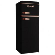 Snaige FR24SM-PRJC0E Chladnička kombinovaná s mrazničkou nahoře, E, 166/46l, černá s měděnými prvky