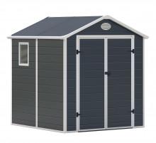 Zahradní domek G21 PAH 357 - 188 x 190 cm, plastový, šedý
