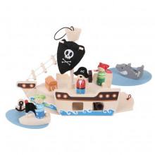 Hračka Bigjigs Toys Pirátská loď s piráty