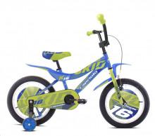 """Dětské jízdní kolo Capriolo BMX 16"""" HT KID blue -lime"""
