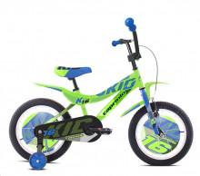 """Dětské jízdní kolo Capriolo BMX 16"""" HT KID green -light blue"""