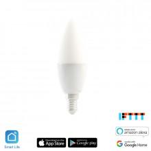 iQtech SmartLife E14WB5W-RGBC, Wi-Fi LED žárovka E14, 110-240 V, barevná