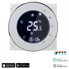 iQtech SmartLife GALW-W, WiFi termostat pro kotle s potenciálovým spínáním, bílý