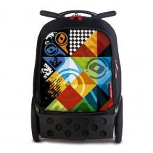 Školní taška na kolečkách Nikidom Roller Logomania