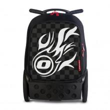 Školní taška na kolečkách Nikidom Roller White Fire