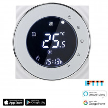 iQtech SmartLife GCLW-W, WiFi termostat pro bojlery a kotle s bezpotenciálovým spínáním, bílý