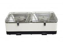 Feuerdesign stolní gril Santorin krémově bílý - 14081
