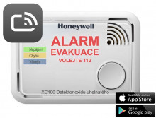 Honeywell XC100-CSSK-A, Smart detektor a hlásič oxidu uhelnatého, Alarm Scan App, CO Alarm