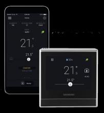 Siemens RDS110.R Chytrý termostat s bezdrátovou komunikací