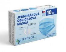 TEX-TECH Ochranná rouška ze 3 vrstev materiálu (10ks)